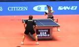 【卓球】 全日本選手権2013 福原愛の試合前練習