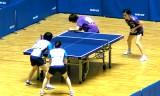 【卓球】 全日本2013 阿部/天野VS福岡/土井(5回戦)