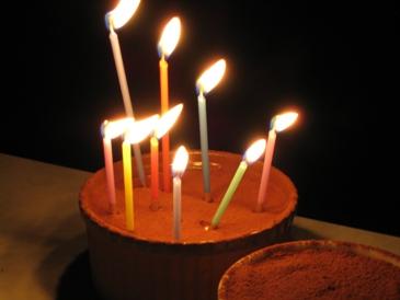 2010誕生日のティラミス、ろうそくバージョン