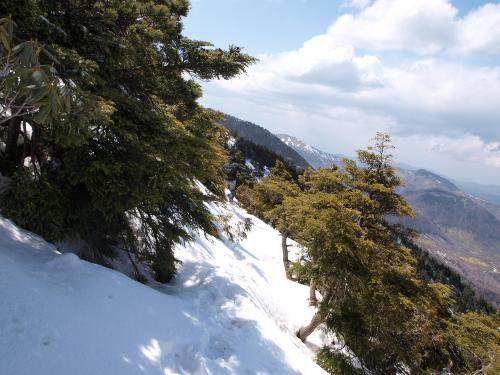 水ノ塔山の北側