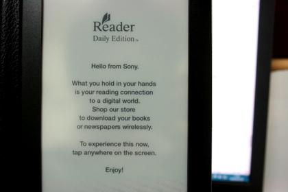 Sony Reader Daily Editionのファーストインプレッション(ビデオあり)
