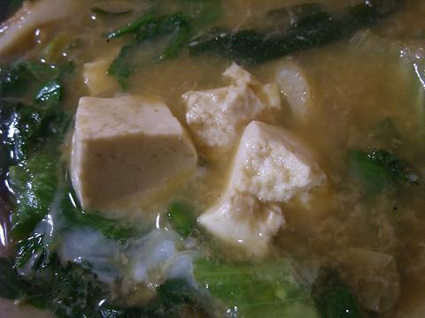 家庭料理 まんじゅまい みそ汁 島豆腐