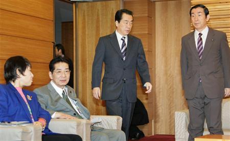座せる仙谷影総理、バ菅を走らす