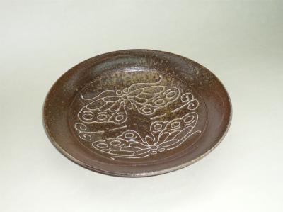 焼締め丸鉢