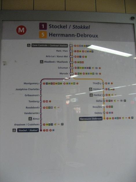 メトロの路線図