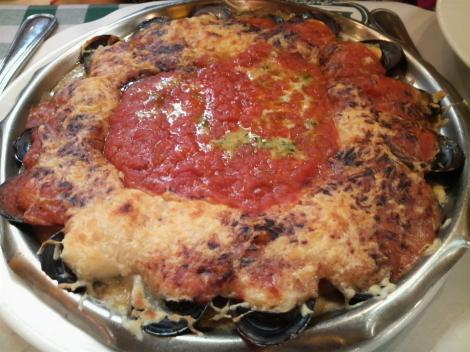 ムール貝のトマト焼き