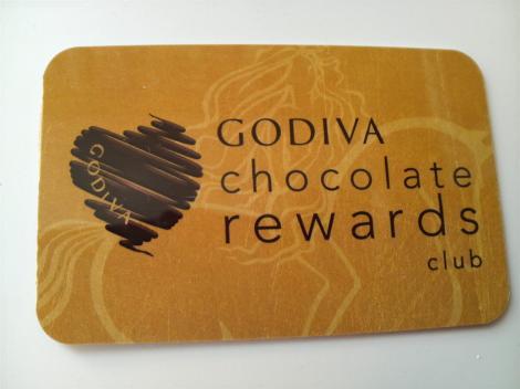 ゴディバのカード