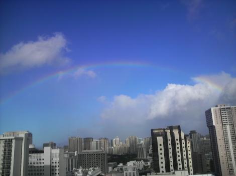 今日も虹ー1