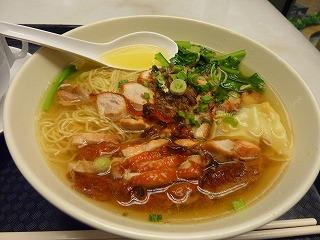 20111001夕食1-ワンタン麺