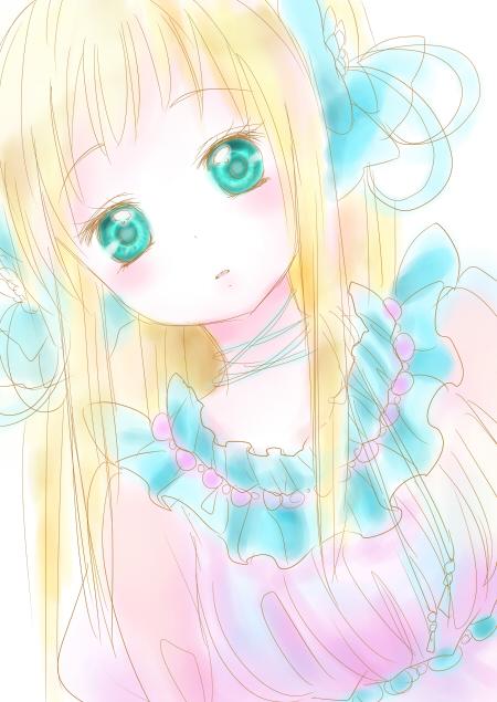ピンク×水色
