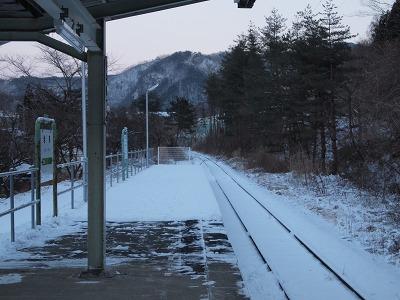 岩泉駅ホーム(終端側)
