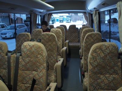 代行バス 車内の様子