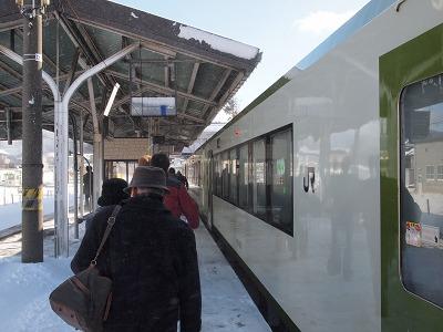 遠野駅に到着