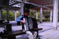 鏡山公園で練習=2