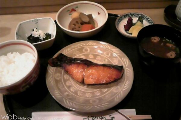 サワラの焼き魚定食☆