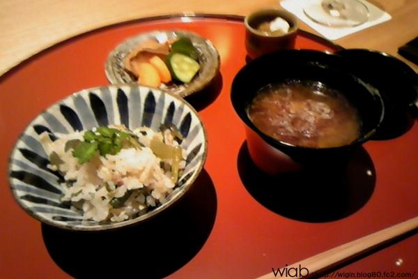 〆は日本人はやっぱご飯!! このご飯美味しかったな! おかわりしちゃった・・・