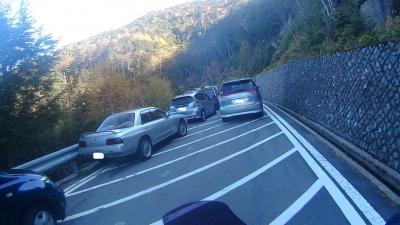 大弛峠路駐渋滞