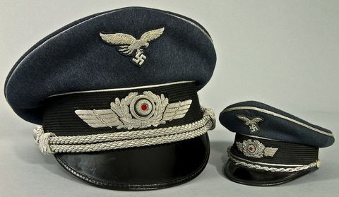 Josef Granowsky Luftwaffe Officer's visorcap_sample