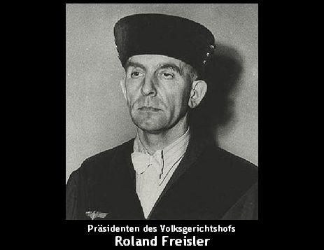 ローラント・フライスラー民族裁判所長官