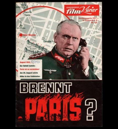 パリは燃えているか_ドイツ版パンフレット表紙