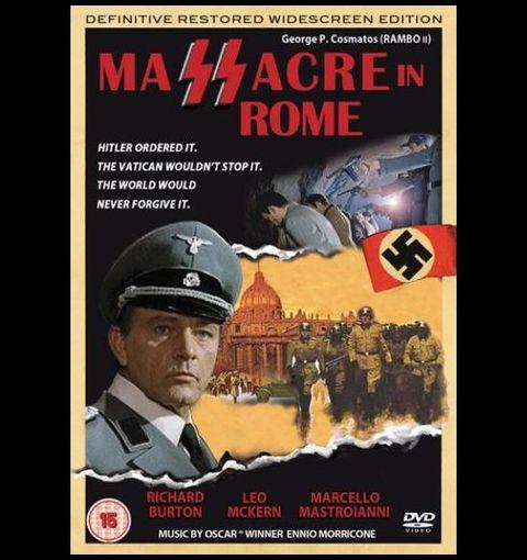 『裂けた鉤十字/ローマの虐殺』ポスター