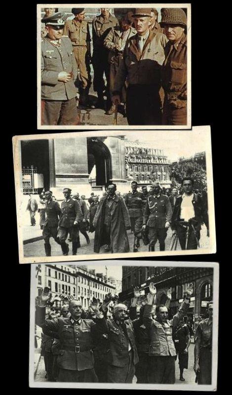武装解除後のコルティッツおよびドイツ軍将兵