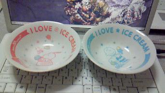 スヌーピーアイス皿