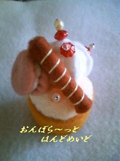 針山・カップケーキ(マカロン