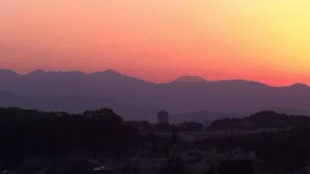小山田緑地でみた夕焼け