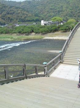 錦帯橋階段