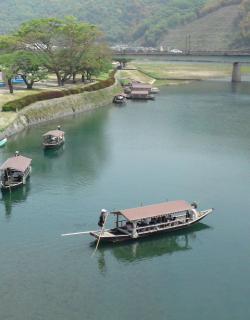 錦帯橋屋形舟