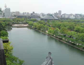 広島球場方面を望む