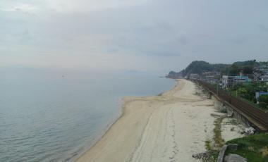 瀬戸内海と山陽本線