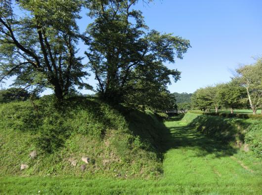 九戸城跡二の丸と空堀