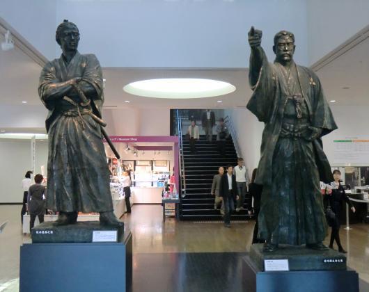 龍馬・弥太郎像