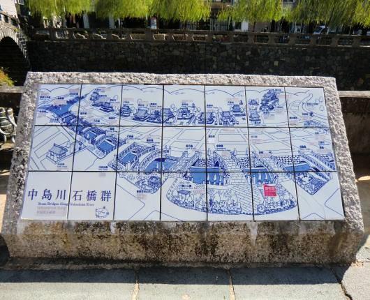 中島川石橋群図