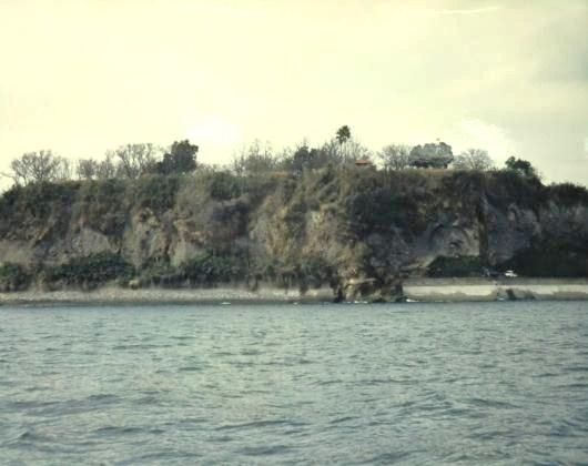 原城跡海上から