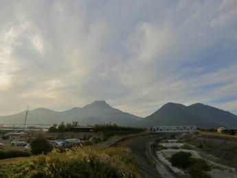 普賢岳と水無川