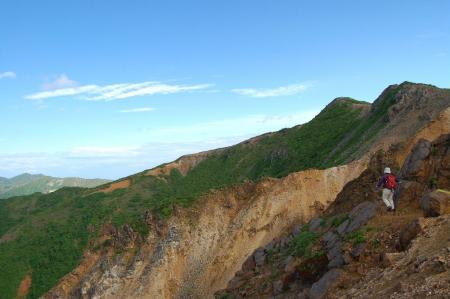 9朝日岳への尾根