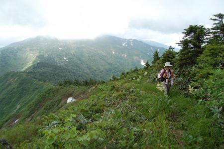 38三岩岳への尾根