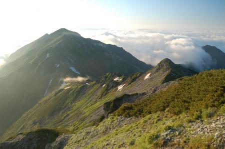 56針ノ木山頂から蓮華岳