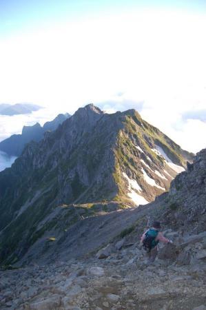 57針ノ木岳からスバリ岳を目指して