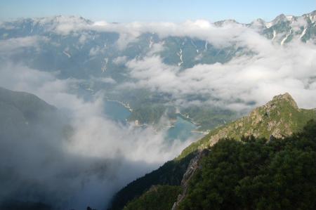 73赤沢岳からの黒部湖