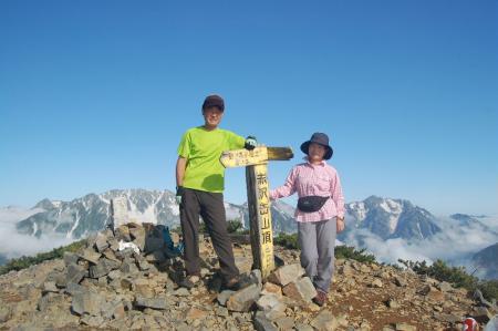 74赤沢岳山頂