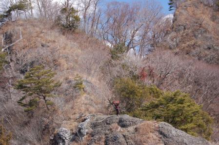 31Ⅲ峰手前の露岩