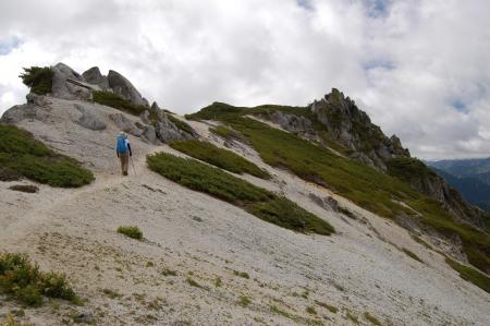 116北燕岳稜線