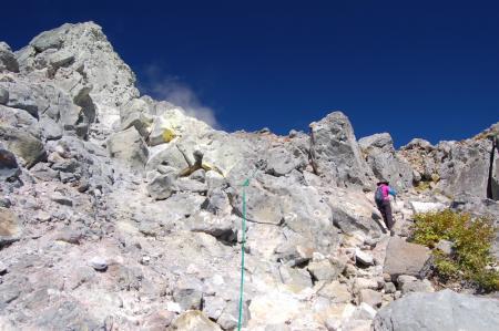 17山頂付近・南峰