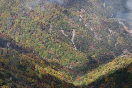 28山頂からの紅葉