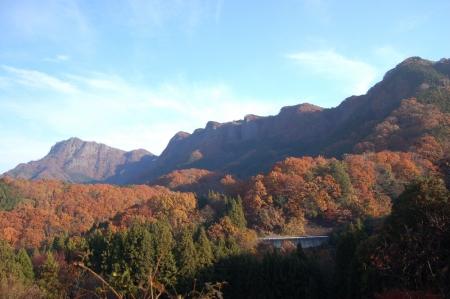 1釜沢越への登山口付近から