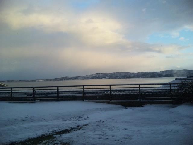 雪の七尾湾